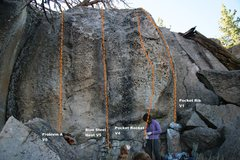 Rock Climbing Photo: Pocket Rocket Alcove Center Topo
