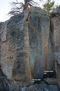 Rock Climbing Photo: Pocket Rocket Alcove Right Topo