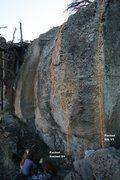 Rock Climbing Photo: Pocket Rocket Wall Topo