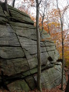 Rock Climbing Photo: Lil' Abner follows the crack that starts behind th...