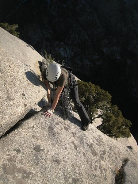 "Rock Climbing Photo: Traverse from ""rappel tree"" to the low a..."