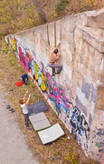 Rock Climbing Photo: Al buildering Physical Graffiti, a 5.11 finger cra...