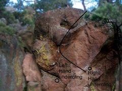 Rock Climbing Photo: About 10 min. below the Monkey Traverse, just belo...