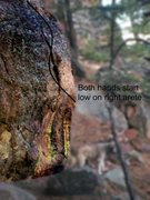 Rock Climbing Photo: Another problem just below the Candle Area, pretty...
