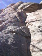 Rock Climbing Photo: The right-facing corner and roof at the start of T...