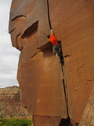 Rock Climbing Photo: At the crux.  Photo by Joan G.  Climber:  Ed from ...