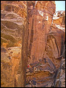 Rock Climbing Photo: Leading Kingsnake at Winslow Wall.  This route see...