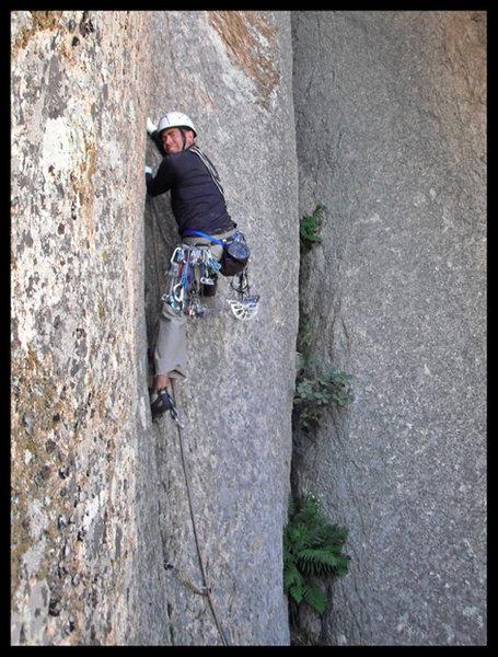 Rock Climbing Photo: Joe Garcia leading P1 of Abracadaver in Cochise St...