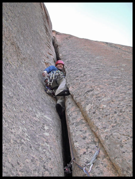 "Rock Climbing Photo: ""Feed yourself into the offwidth.  Expect no ..."