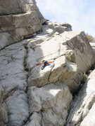 Rock Climbing Photo: First pitch. Valentine crack to the left.