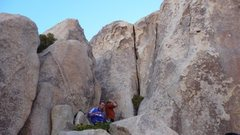 Rock Climbing Photo: Mystery climb on maybe dissolution, very confused