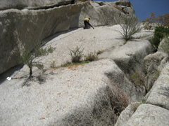 Rock Climbing Photo: Underclinging like a madman