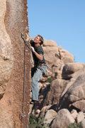 Rock Climbing Photo: Tony just past the crux.
