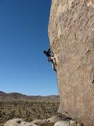 Rock Climbing Photo: Depumping on the flake. Photo by Tony Sartin.