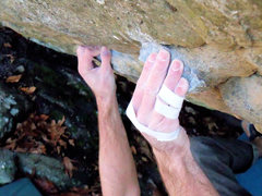 "Rock Climbing Photo: Steve Lovelace on the crimp pinch combo on ""m..."