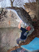 Rock Climbing Photo: Aaron Parlier pawing up the desperate corner to &q...
