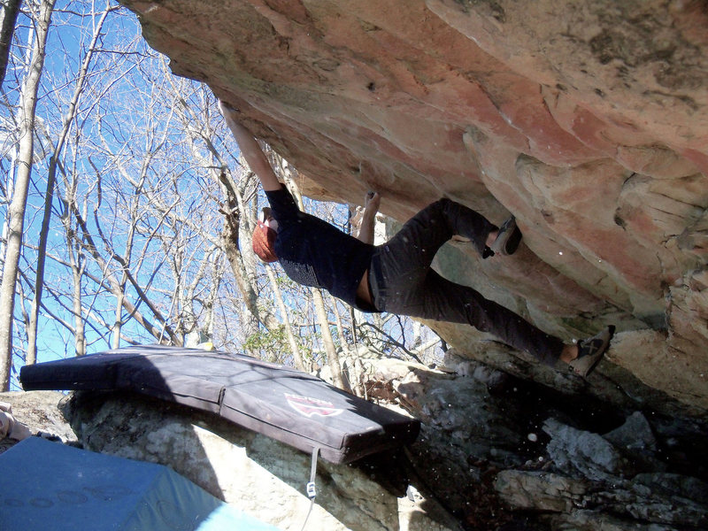"Aaron Parlier on the warm up roof ""Warm Up"" (V-1)"