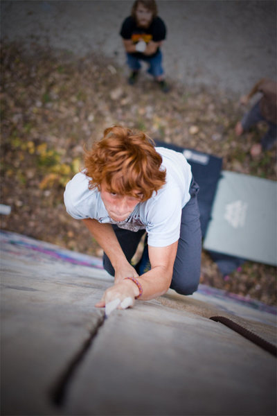 Rock Climbing Photo: Stephen getting into the off-fingers section of a ...