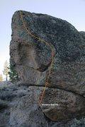 Rock Climbing Photo: Voodoo Doll Topo