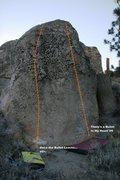 Rock Climbing Photo: Bullet Boulder Left Topo