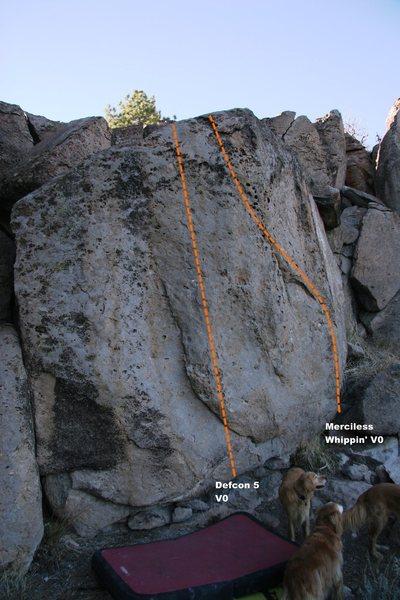 Flake Boulder Left Topo