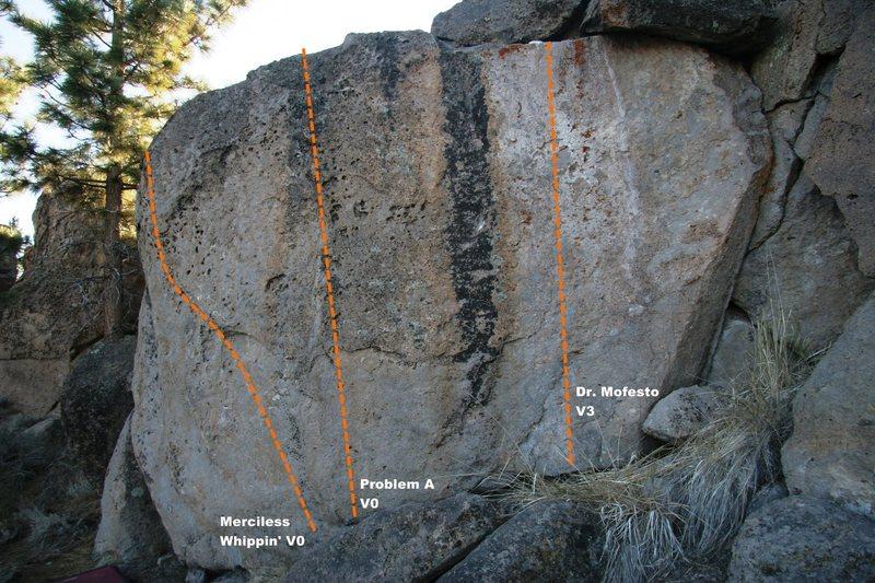 Flake Boulder Right Topo