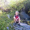 Logan chillin in the gully.