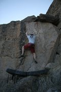 Rock Climbing Photo: Crimping on Dr Mofesto, V3