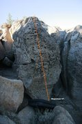 Rock Climbing Photo: Clown Boulder South Topo