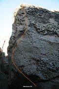 Rock Climbing Photo: Clown Boulder West Topo