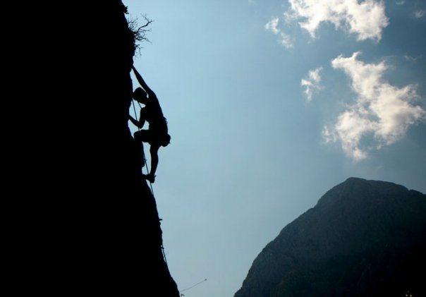 Sylv climbing.....
