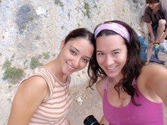 Rock Climbing Photo: Hasibe and I....craggin...