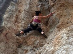 Rock Climbing Photo: me on Lycian Highway - Trebanna West Crag - Geyikb...