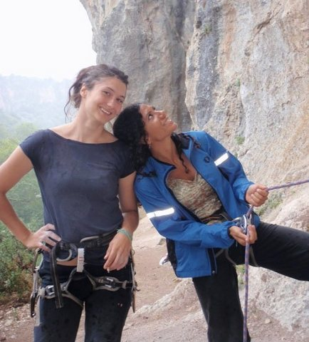 Sibel and Nazo.  I swear, with the exception of Mike who was there with his girl Sylvia...the whole camp was women!!  It was awesome to climb with such inspiring sisters.