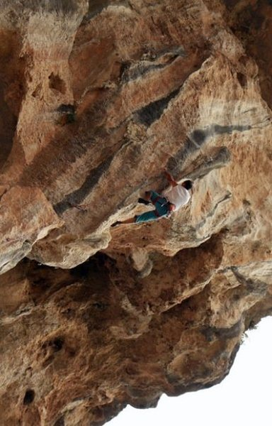 Dogan (local climber) on .13