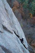 Rock Climbing Photo: turners flake in the last fall...