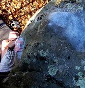 "Rock Climbing Photo: Steve lovelave crossed over on the ""bucket&qu..."