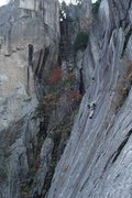 Rock Climbing Photo: Casey Bald and partner on Rapid... Nice running in...
