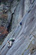 Rock Climbing Photo: Another shot of Casey and Friend... nice job on th...