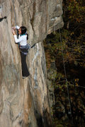 Rock Climbing Photo: Shirley on pitch 1.