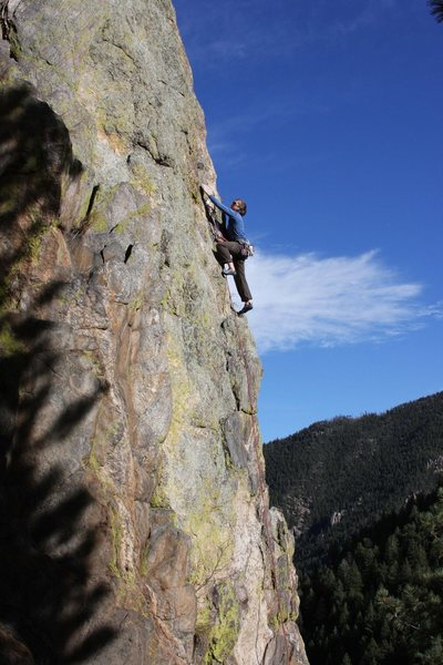 Rock Climbing Photo: Megan closing down.