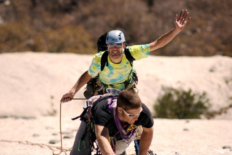 Rock Climbing Photo: Shayne Durfee leading S direct.