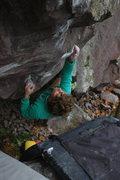Rock Climbing Photo: Jeff sending.