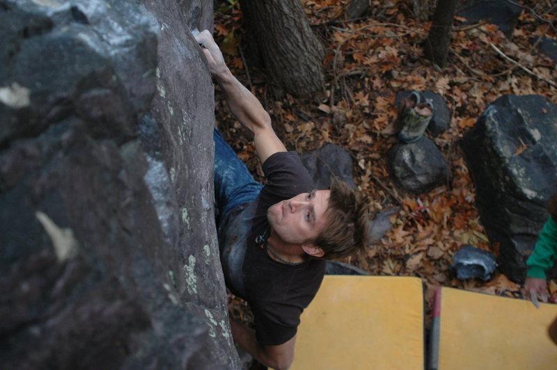 Rock Climbing Photo: Loading the right hand.