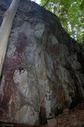 Rock Climbing Photo: O'Brien's line is the arete in the center of the p...