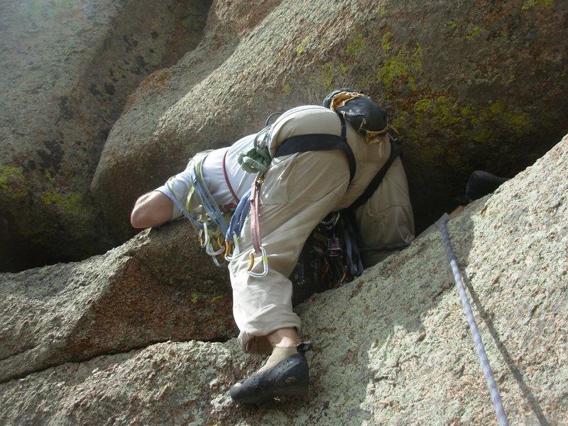 Rock Climbing Photo: The Mighty Dr Ed Hartouni onsights the Baobob Tree...