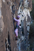 Rock Climbing Photo: Bunny leading Plan F