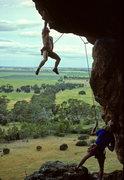 Rock Climbing Photo: Hero pose on Pilot Error