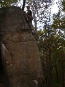 Rock Climbing Photo: Dan at the top right side of the problem