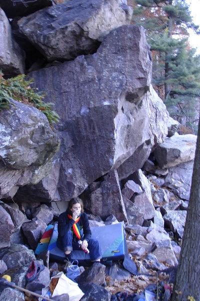 Rock Climbing Photo: Chillin at Jenga.